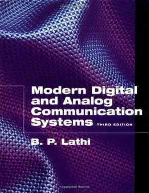 Buy Modern Digital and Analog Communications Systems by B. P. Lathi online in india - Bookchor | 9780195110098