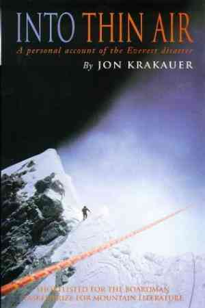 Buy Into Thin Air: Personal Account of the Everest Disaster by Jon Krakauer online in india - Bookchor   9780330353977