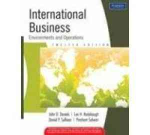 Buy International Business : Environments And Operations by John D. Daniels online in india - Bookchor | 9788131728772