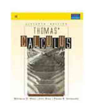 Buy Thomas Calculus by Weir online in india - Bookchor | 9788131718674