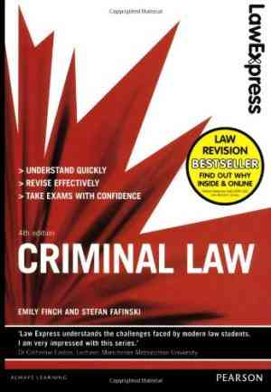 Buy Law Express: Criminal Law (Revision Guide) by Emily Finch online in india - Bookchor   9781408295465