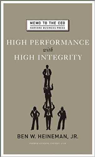 Buy High Performance with High Integrity by Heineman online in india - Bookchor   9781422122952