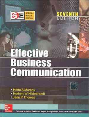 Buy Effective Business Communication (sie) by Herta Murphy online in india - Bookchor | 9780070187757