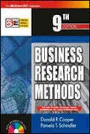 Buy Business Research Methods:With Student CD ROM, 9th Edition by Donald Cooper online in india - Bookchor   9780070620193