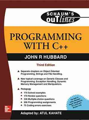 Buy Programming With C++ (SIE) (Schaums Outlines Series) by John Hubbard online in india - Bookchor | 9780070144811