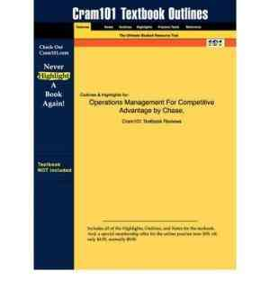 Buy Operations Management For Competitive Advantage (with DVD ROM) by Richard Chase online in india - Bookchor   9780070604483