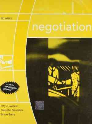 Buy Negotiation 5E by Roy Lewicki online in india - Bookchor   9780070611146
