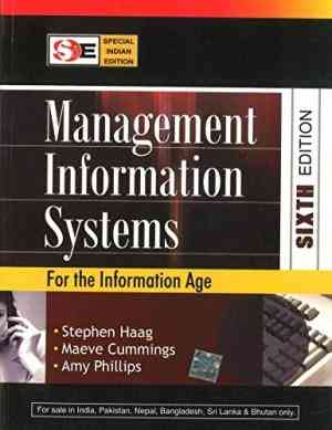 Buy Management Information Systems (SIE) by Stephen Haag online in india - Bookchor   9780070668362