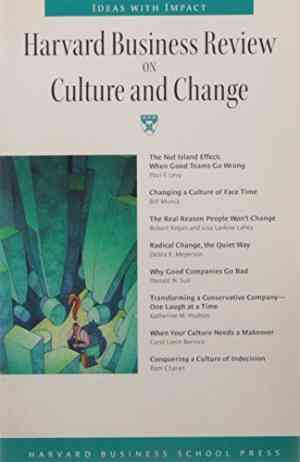 Buy Harvard Business Review on Culture and Change by Harvard Business Press online in india - Bookchor   9780070254862