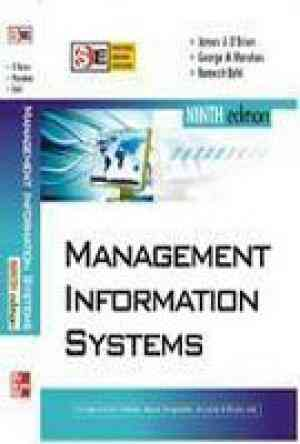 Buy Management Information Systems by James Obrien online in india - Bookchor   9780070144941