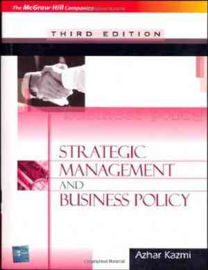 Buy Strategic Management and Business Policy by Azhar kazmi online in india - Bookchor | 9780070263628
