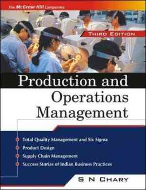 Buy Production and Operations Management by S. N. Chary online in india - Bookchor | 9780070583559
