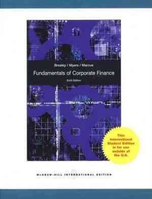 Buy Fundamentals of Corporate Finance by Richard A Brealey online in india - Bookchor   9780070091757