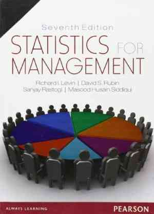 Buy Statistics for Management by Levin Richard I. online in india - Bookchor   9788177585841