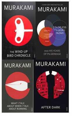 Murakami-Set-of-4-Books-Paperback