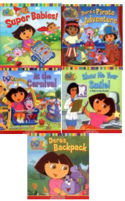 Book-set-of-5-books--Dora-the-explorer