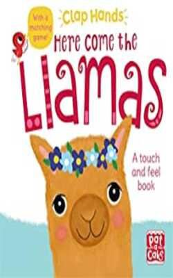 Here-Come-the-Llamas:-A-touch-and-feel-board-book