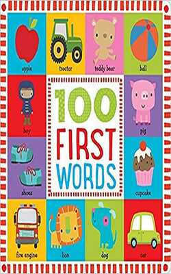 Buy 100 First Words Board book by Dawn Machell online in india - Bookchor | 9781786922557