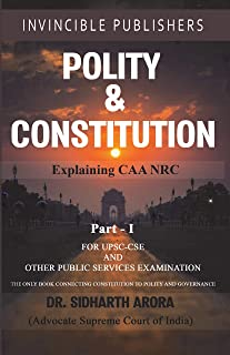 Buy Polity & Constitution (Part -1) by Dr. Sidhartha Arora online in india - Bookchor | 9789389600445