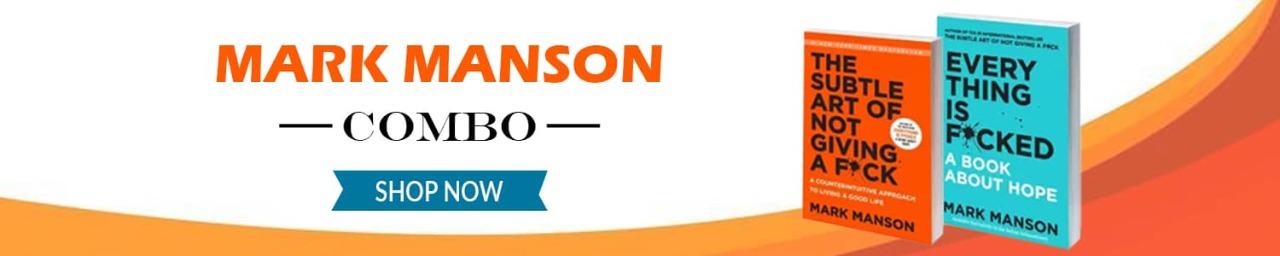 MARK MANSON- COMBO PACK